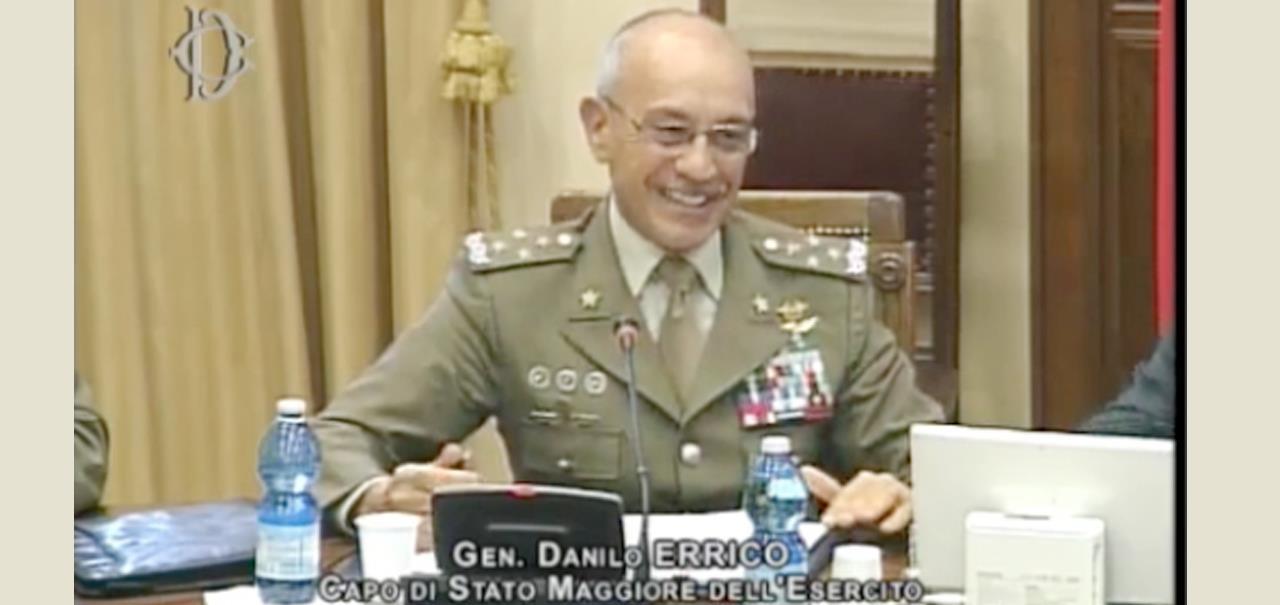 Generale errico alla camera dei deputati esercito italiano for Commissione difesa camera