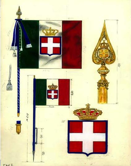 Marzo esercito italiano for Bandiera di guerra italiana