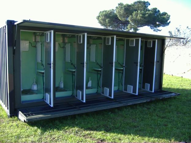 Servizi igienici su container ISO-1C - Esercito Italiano
